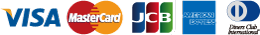 VISA MasterCard JCB AMERICAN EXPRESS DinersClub