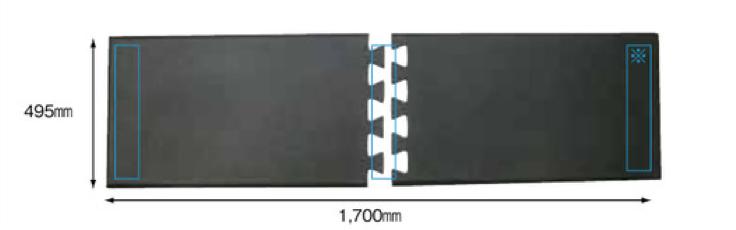 足腰マット ジョイント 基本2 ピース サイズ